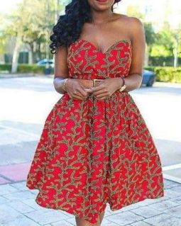 robe pagne bustier