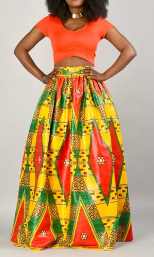 Jupe Wax   Taille haute   Mode Africaine